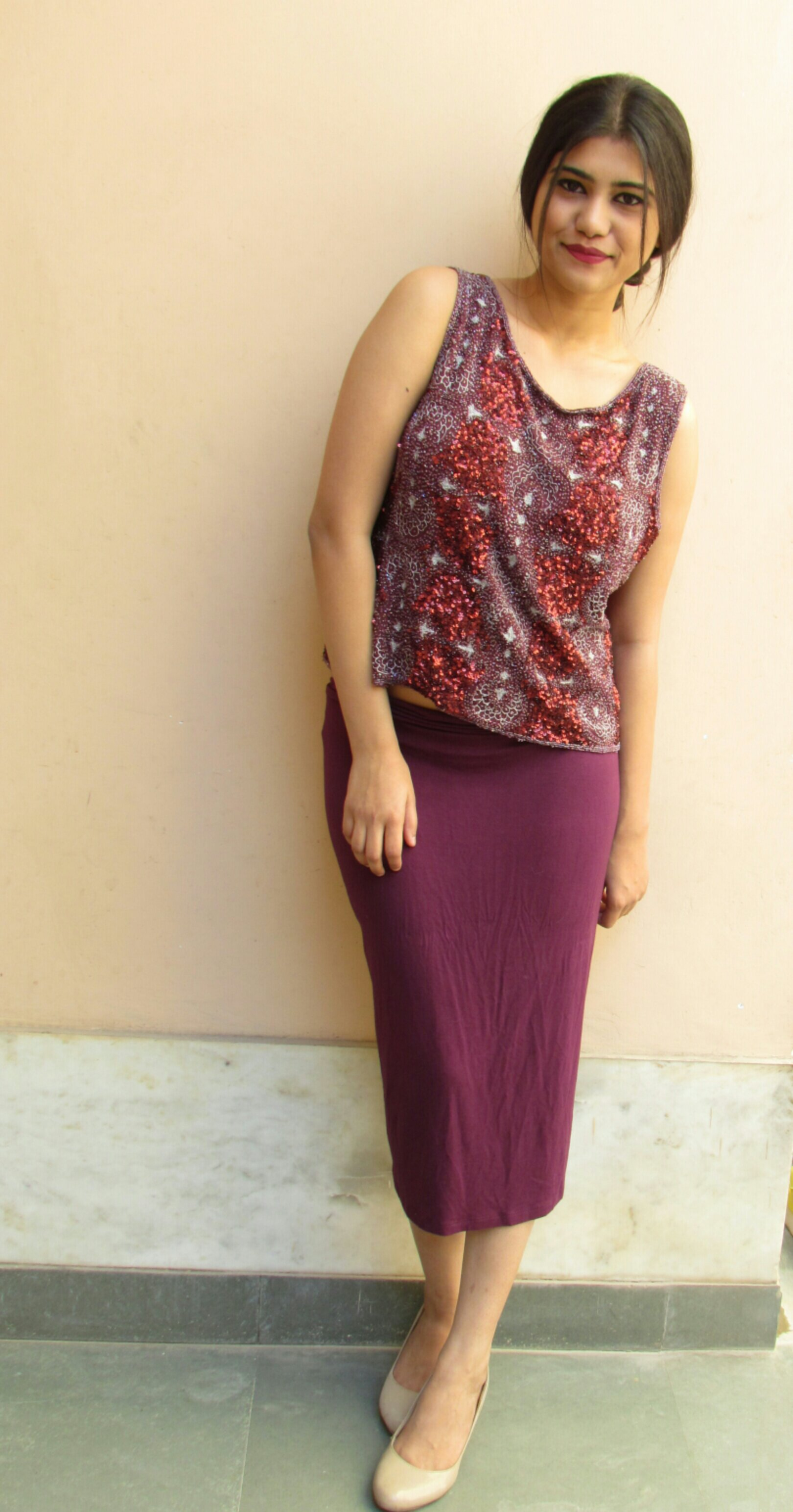 Maroon Pencil Skirt Outfit – images free download